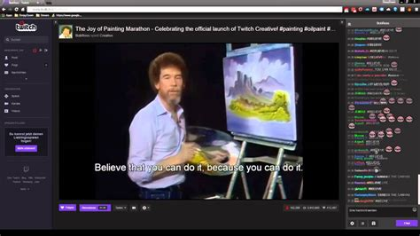 Twitch Bob Ross Marathon Ending + Chat Reactions Youtube