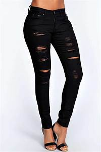 Abby Jean Tru00e8s Skinny Taille Haute Et Lourdement Du00e9chiru00e9