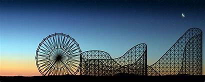 Dual Screen Wallpapers Monitor Roller Coaster Cool