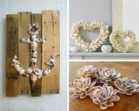 Decorazione con le conchiglie sculture decorazioni shells diy decor