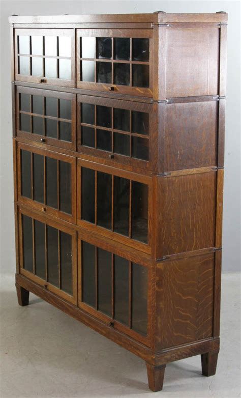 Stackable Barrister Bookcase by Lot Detail Five Part Stacking Barrister Bookcase