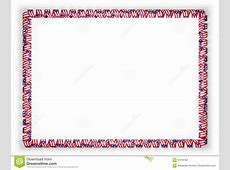 Frame And Border Of Ribbon With The Puerto Rico Flag 3d