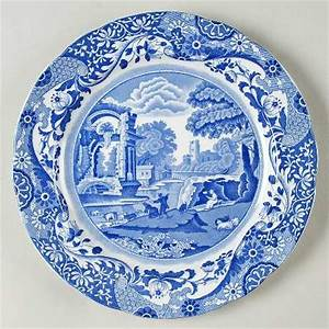 Spode, Blue Italian (Older,Scalloped) at Replacements, Ltd