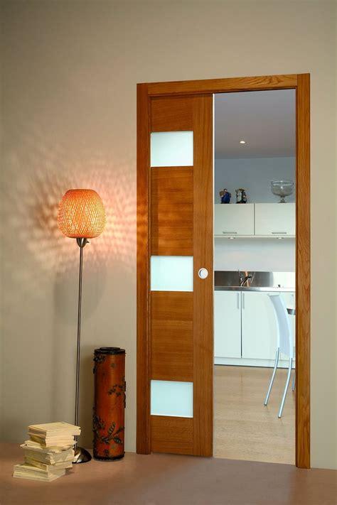 porte cuisine coulissante porte coulissante chene vitree flat porte et bloc porte