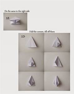 Ornaments Origami: Paper Diamond | Paper Origami Guide