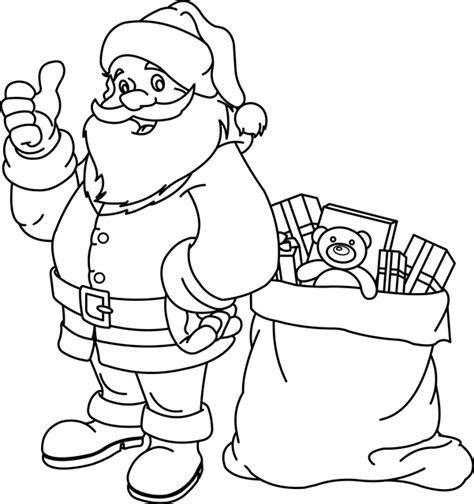 dessiner sa cuisine en ligne gratuit coloriage le père noël et sa hotte dory fr coloriages