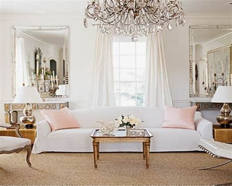 White End Tables Living Room, Elegant Pink And White