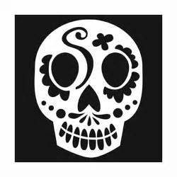 Sugar Skull Stencil Template
