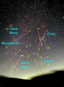 Winter Constellations Northern Hemisphere