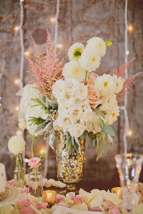 Mercury Vases Wedding - atlanta arts center wedding mercury glass flower and