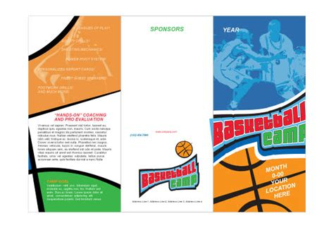 Sports C Brochure Template by Sports C Brochure Template Basketball Sports C Print