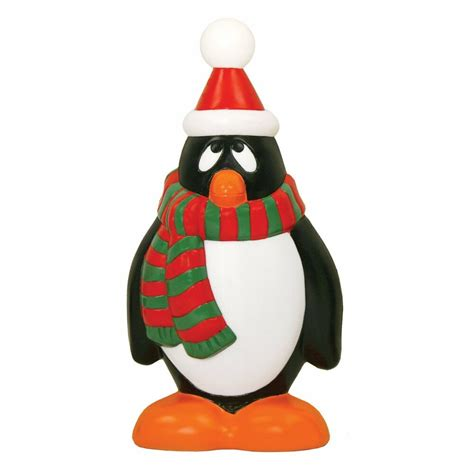 holiday penguin plastic outdoor blow mold christmas