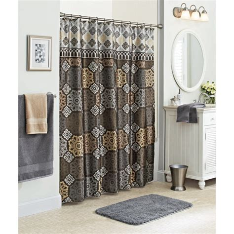 better homes and gardens santorini fabric shower curtain
