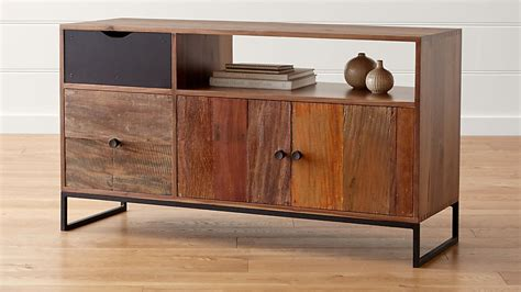 atwood reclaimed wood credenza reviews crate  barrel