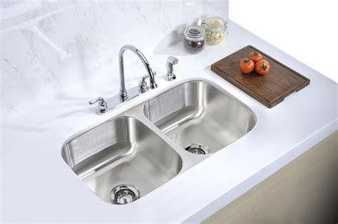 tuscany undermount  stainless steel double bowl