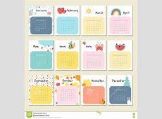 Cute 2017 Calendar free excel templates
