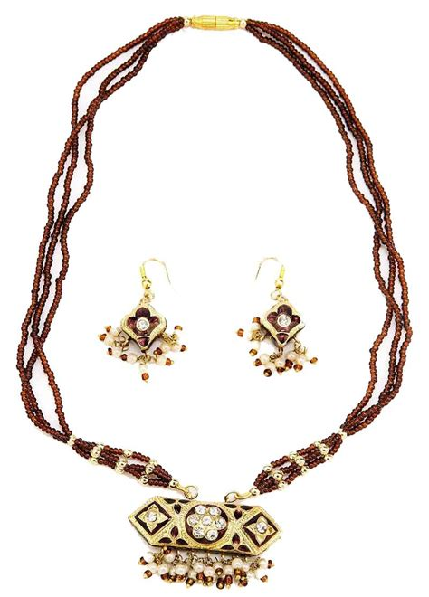 indian lac costume jewellery mixed necklaces pictures
