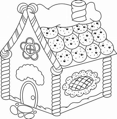 Gingerbread Coloring Pages Houses Printable 30seconds Featuring