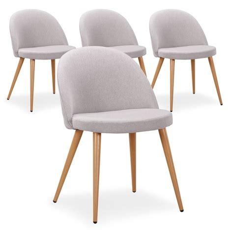 chaise tissu gris chaise scandinave tissu gris lot de 4 pas cher