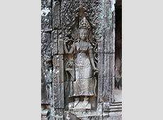 カンボジア写真館 アンコール・トム遺跡 バイヨン寺院の美しいデバター Bayon, Angkor Thom
