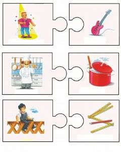 community helper puzzle  kids crafts  worksheets
