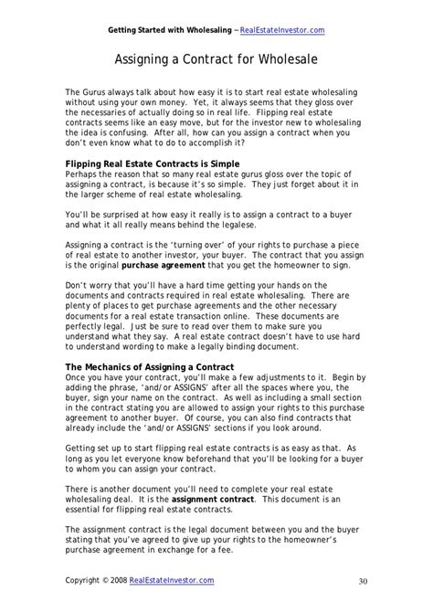 real estate wholesale contract  amulette