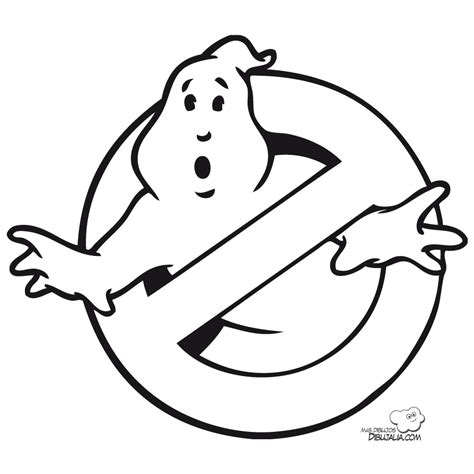 ghostbusters logo coloring page coloring pages