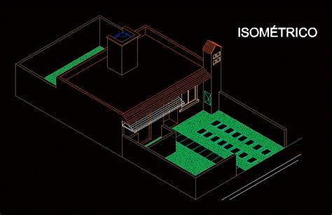isometric house  autocad  cad   kb