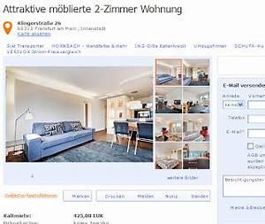 Mietwohnung In Frankfurt : attraktive m blierte 2 zimmer wohnung klingerstra e 26 60313 ~ Orissabook.com Haus und Dekorationen