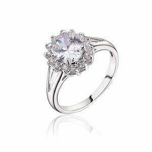 new platinum plated engagement rings for women round cut With platinum wedding rings for women