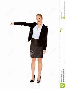 Angry Business Woman Shows Get Out Gesture Stock Photo ...