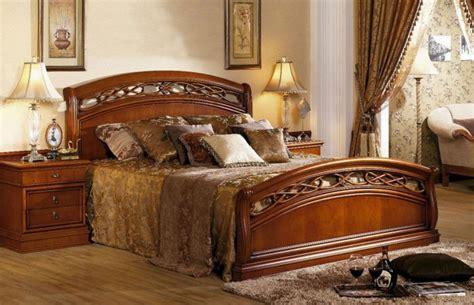 lujo cl 237 161 sico cama de madera de dise 241 o de muebles de