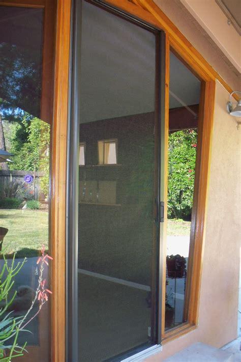 retractable screen door retractable screen doors woodland licensed