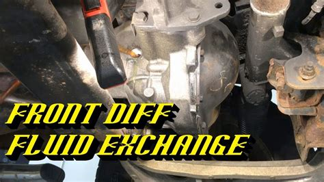 ford front differential maintenance specialized drain