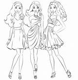 Sock Hop Coloring Barbie Pages sketch template