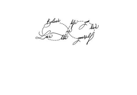 Calligraphie Paris  Calligraphie Tatouage Signe Infini Et