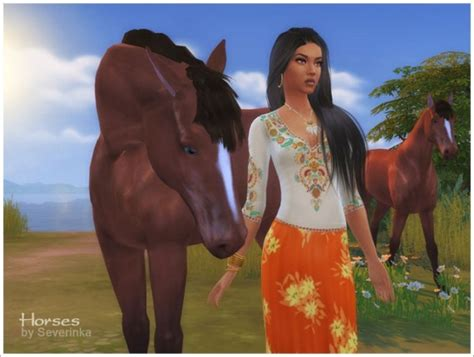 sims  severinka horses decor sims  downloads