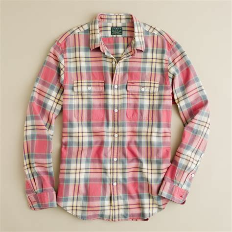 j crew vintage flannel shirt in amherst plaid in for