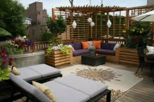 balkon seitensichtschutz 25 terrassengestaltung beispiele