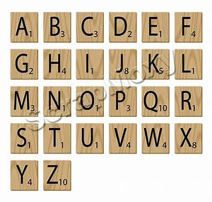 scrabble alphabet letters for scrapbooking in photoshop With scrabble block letters