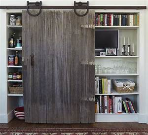 Pantry with Barn Door - Transitional - kitchen - Yankee