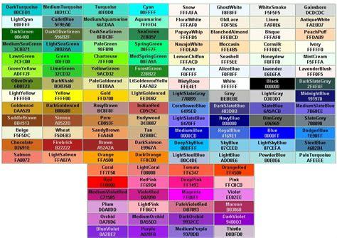 colores hexadecimales websbeto comtabla de colores