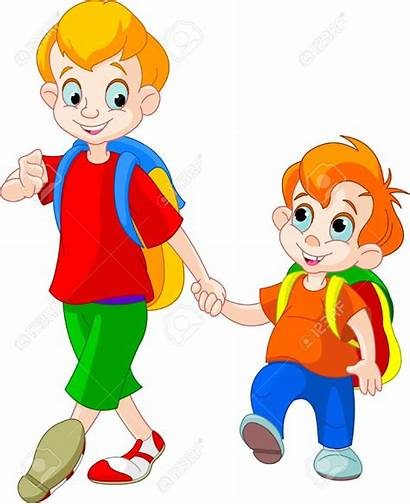 Brothers Brother Clipart Illustration Vector Healthy Boy