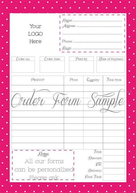 order form printable order form work  home  file