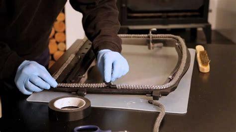 replacing rope seal   door esse stove youtube