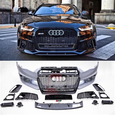 Audi S6 Front by Bkm Front Bumper Kit With Front Grille Rs Style Fits