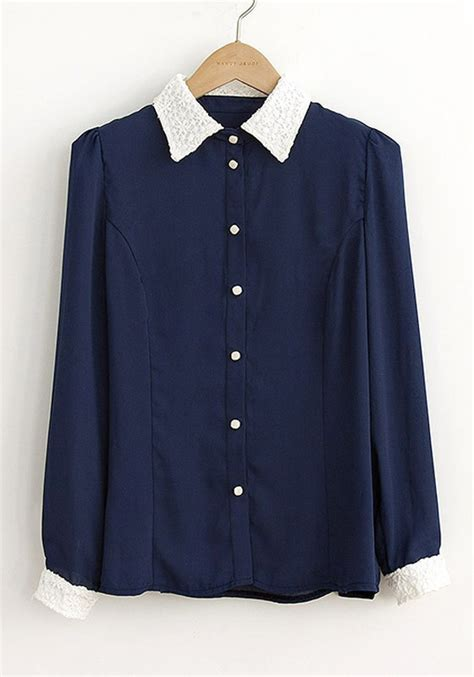 navy blouses navy blue blouse with collar silk blouses