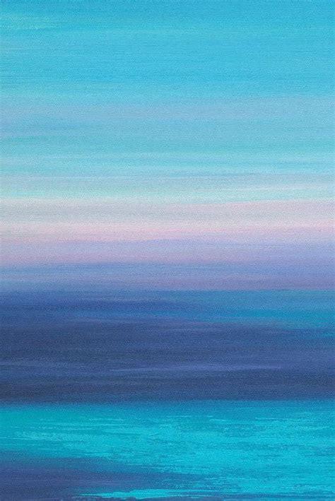 beachy triptych painting  piece wall art canvas ocean