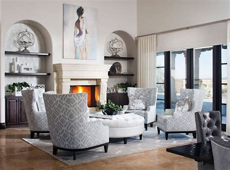 White Living Room Arm Chairs by 50 Beautiful Living Rooms With Ottoman Coffee Tables