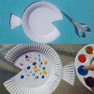rainbow fish paper plate craft paper plate crafts With paper plate fish template